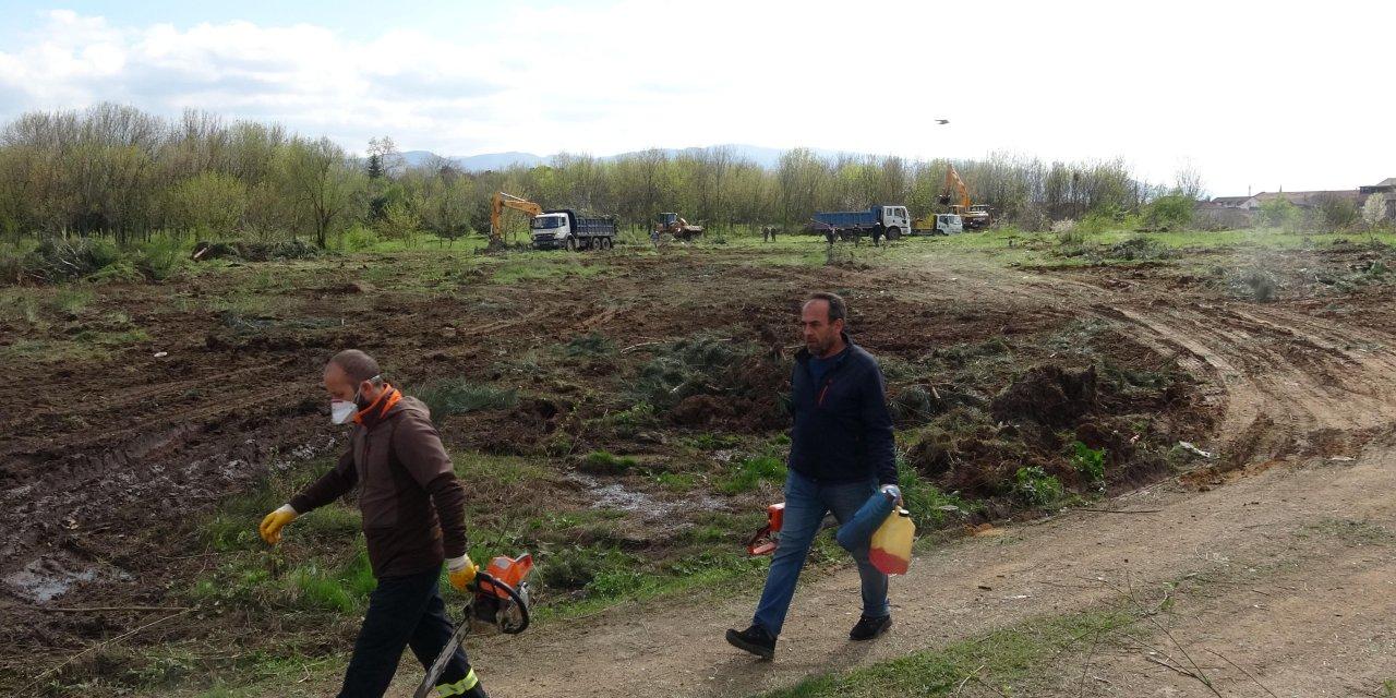 Kocaeli'de sahra hastanesinin yapım çalışmaları başladı