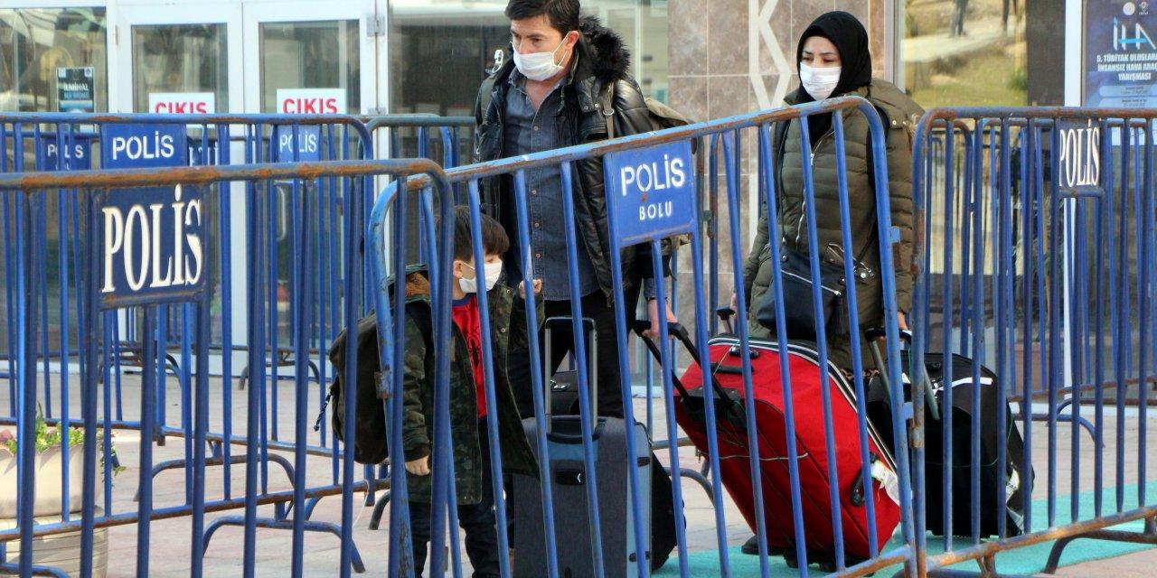 Bolu'da karantina yurdundaki son 250 kişi de evlerine gönderildi