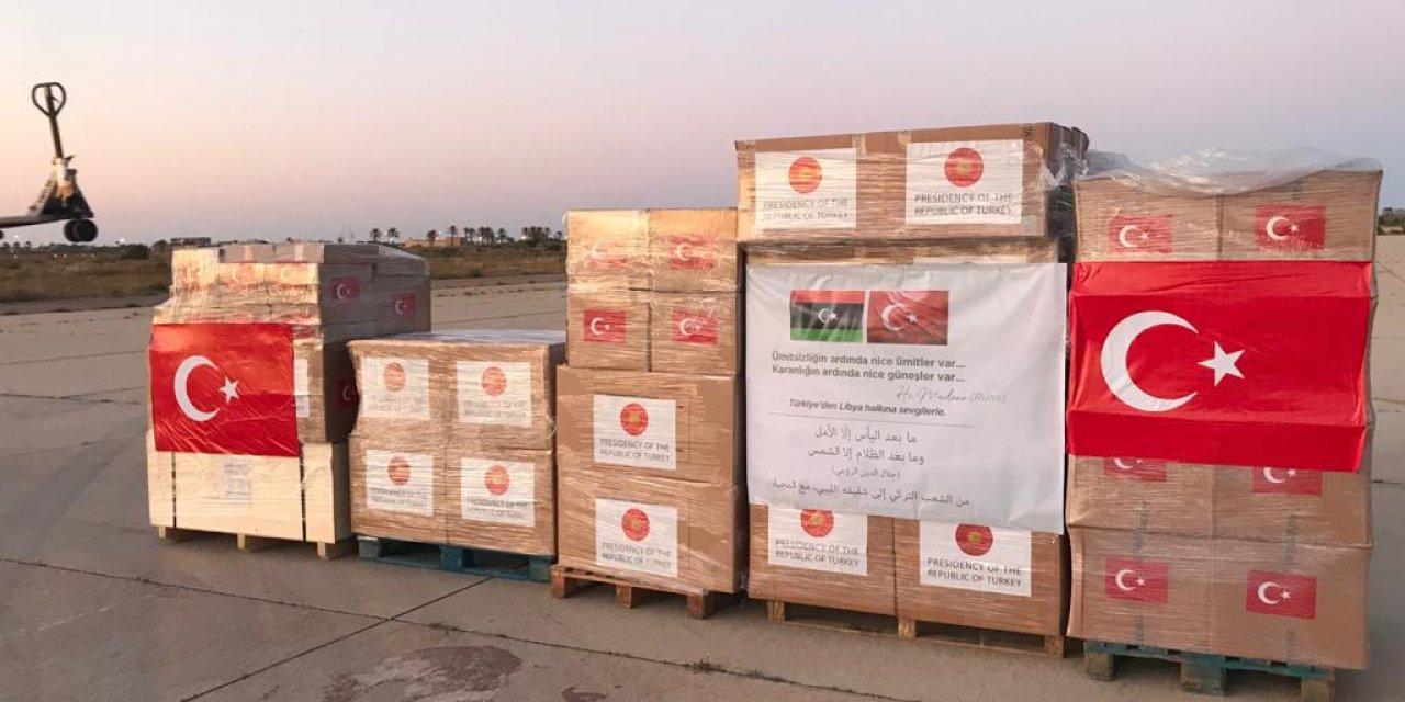 Türkiye'den Libya'ya sağlık malzemesi gönderildi