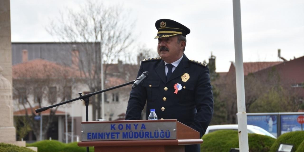 Konya'da Polis Teşkilatının Kuruluş Yıldönümü kutlandı