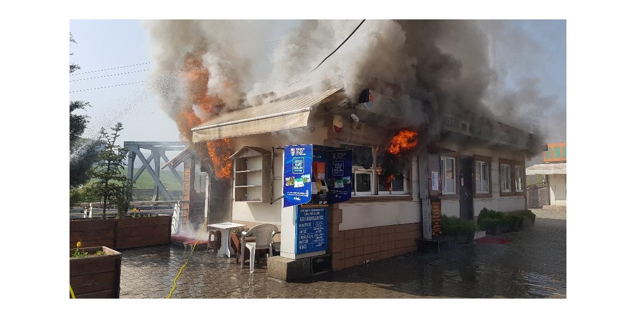Toplu Taşıma İzleme merkezi çıkan yangında büyük hasar aldı