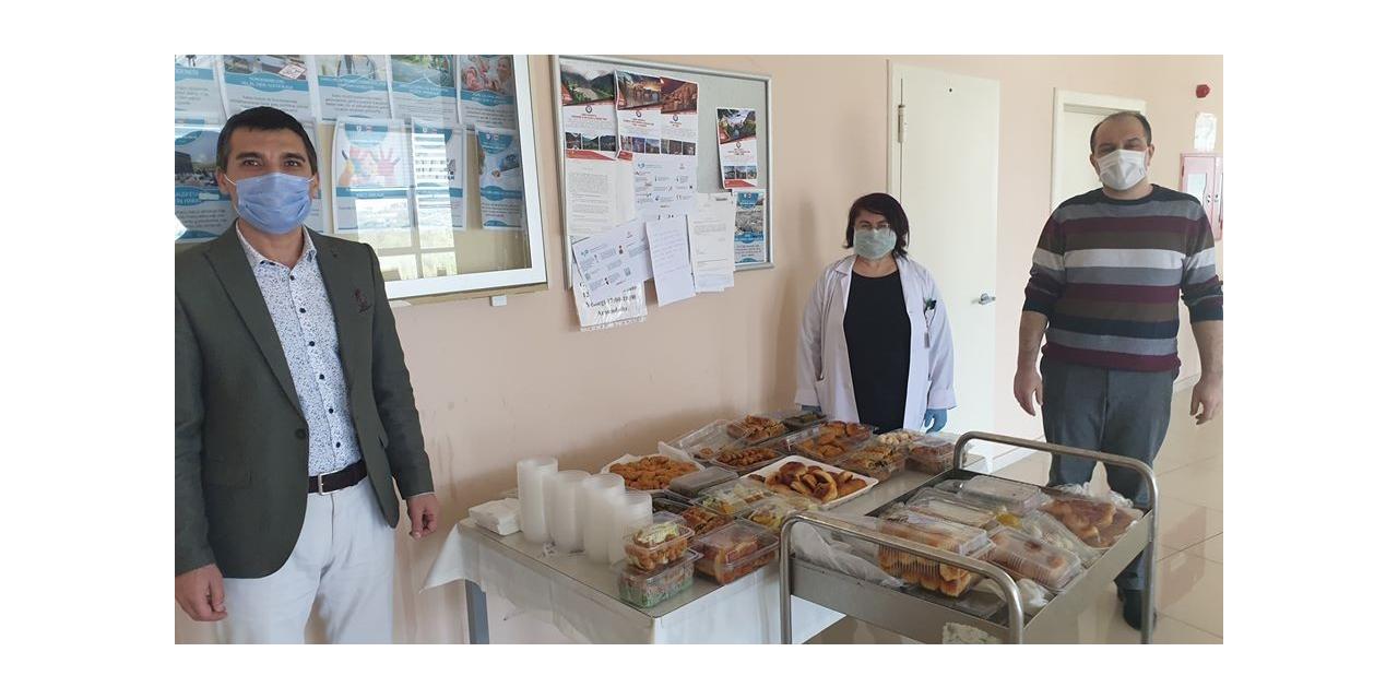ÇEŞKA'dan sağlık çalışanlarına ikram