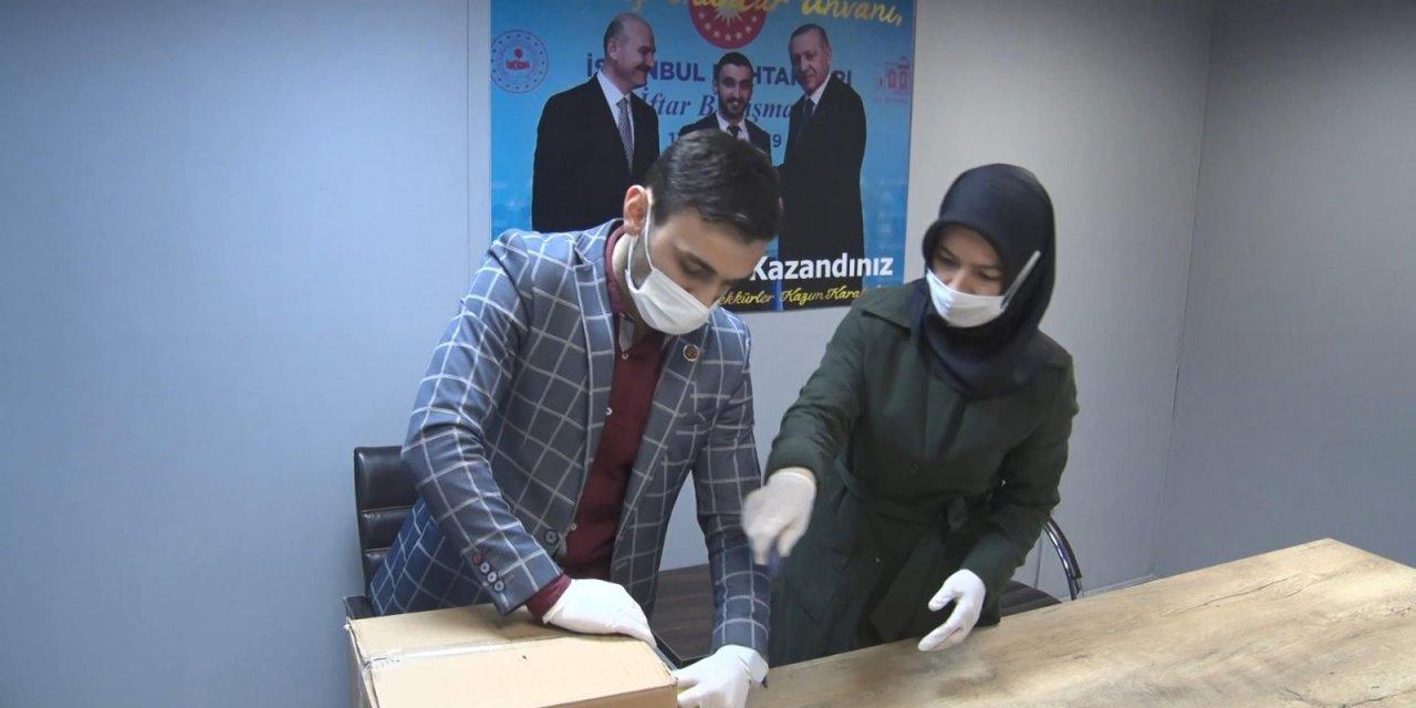 Gaziosmanpaşa'da muhtarın 5 aylık maaşıyla  başlattığı gıda yardımı destek gördü