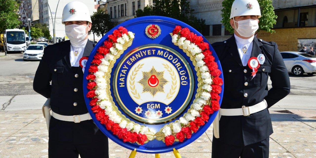 Hatay'da polis teşkilatının kuruluş yıl dönümü kutlandı