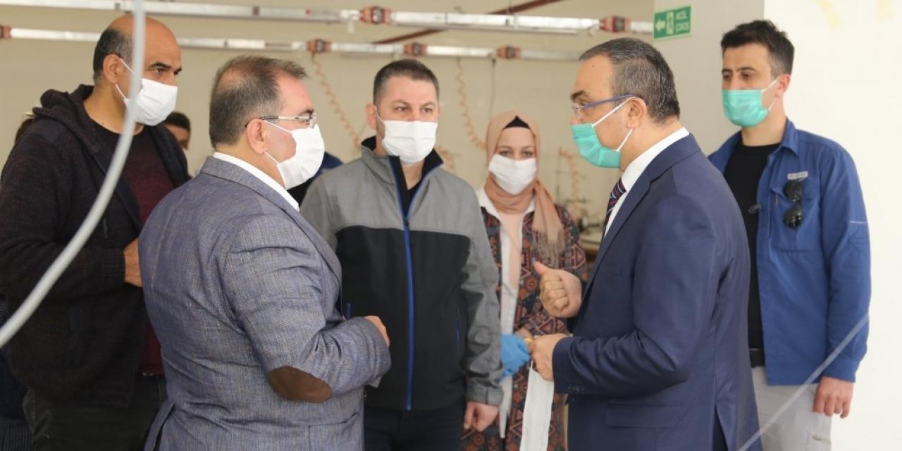 Belediye maske üretmeye başladı