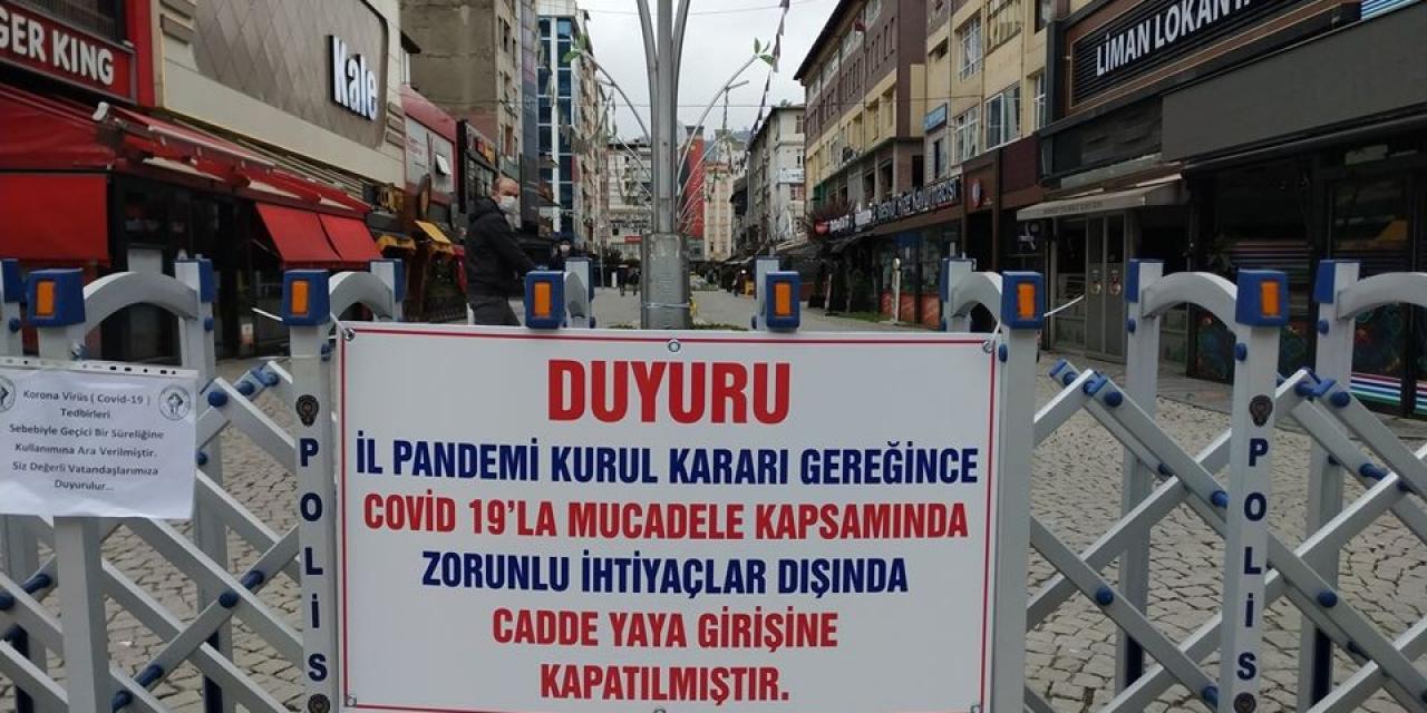 Rize'nin kalabalık caddelerine giriş yasaklandı