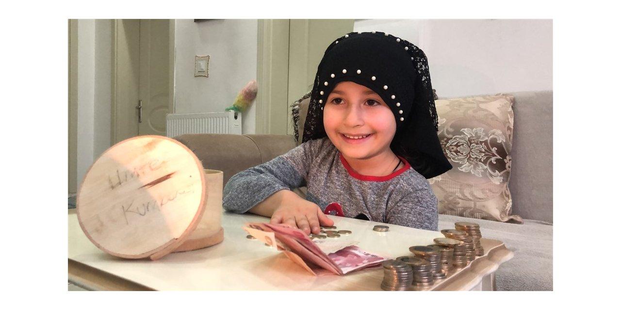 6 yaşındaki Fatma, kumbarasındaki 165 TL'yi bağışladı