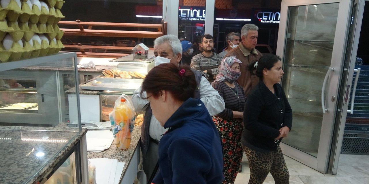 Aydın'da yasağı duyan fırın ve marketlere koştu