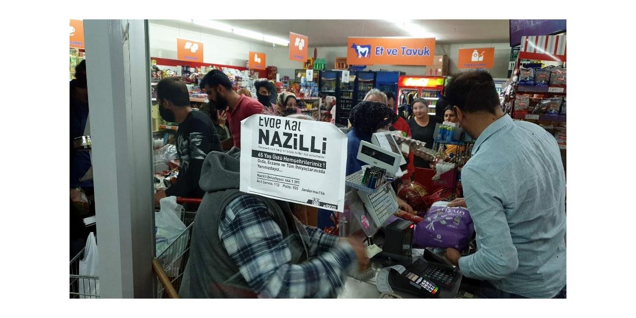 Nazilli'de fırıncının sosyal mesafe isyanı