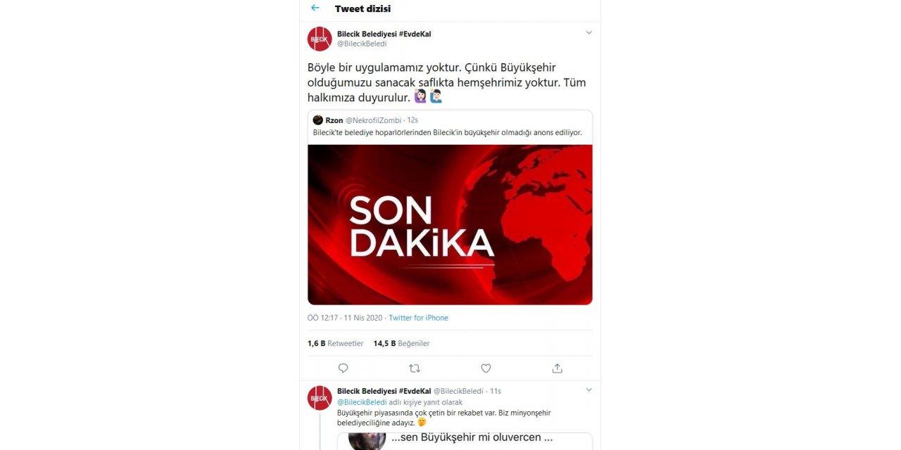 Bilecik, sosyal medyada gündem oldu