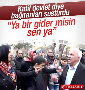 Diyarbakır'da eylem yapanlara vatandaştan tepki