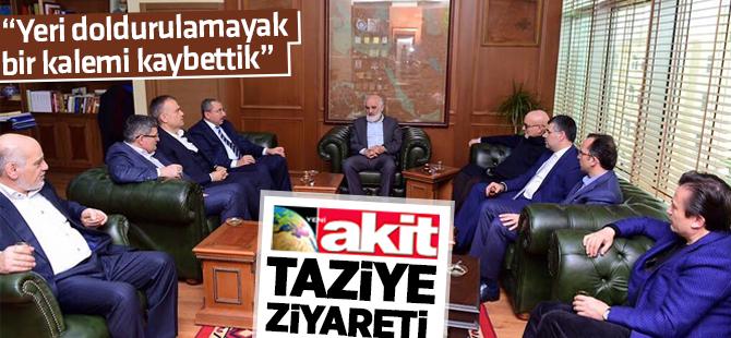 Belediye Başkanlarından Yeni AKİT'e Taziye Ziyareti