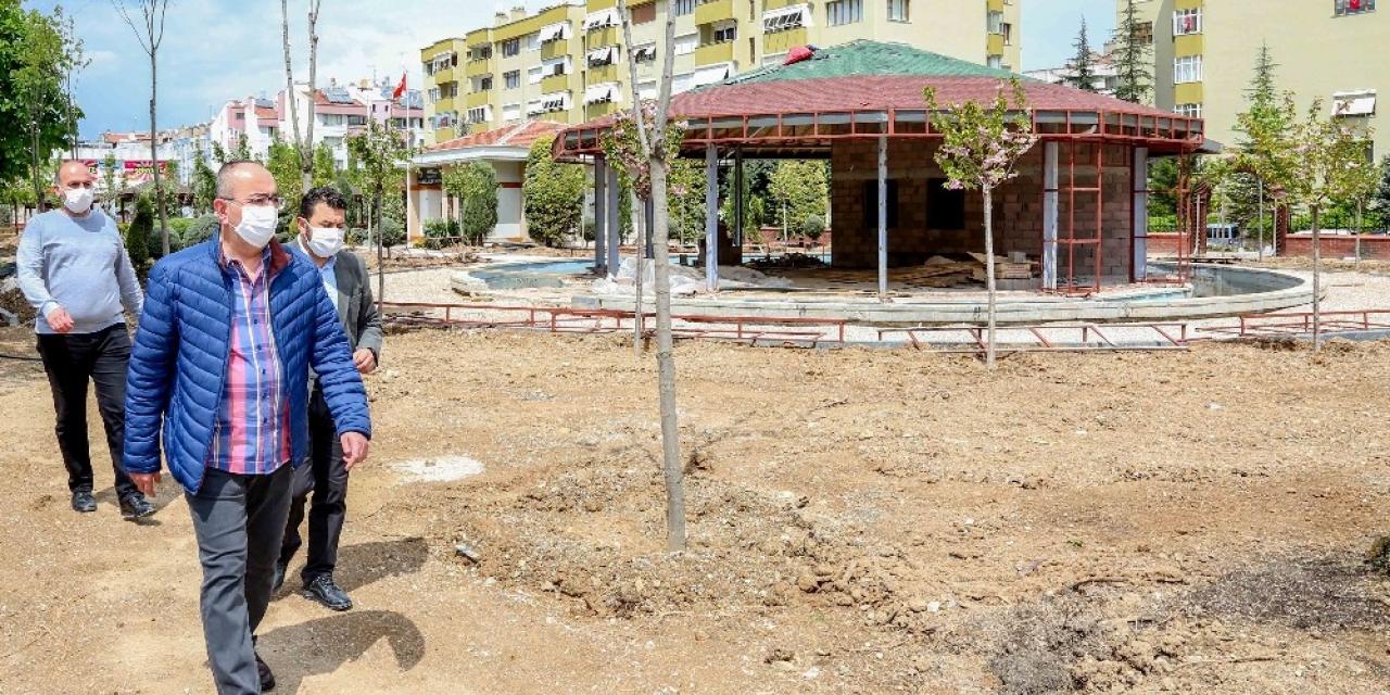 Meram'da parklar güzel günler için hazırlanıyor
