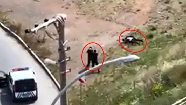 Görüntü bugün Türkiye'de kaydedildi! 2 kardeşin polise saldırdığı anlar kamerada