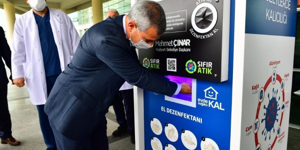 Yeşilyurt Belediyesinden Hijyenmatik Makinesi