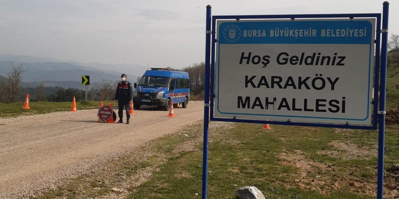 Bursa'da, Karaköy Mahallesi'ndeki karantina sona erdi