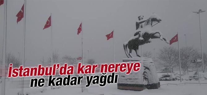 İstanbul'da Kar Nereye Ne Kadar Yağdı? Okullar Tatil Edilecek mi?