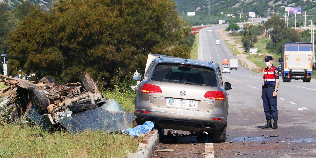 Cip ile otomobil çarpıştı: 1 ölü, 1 yaralı