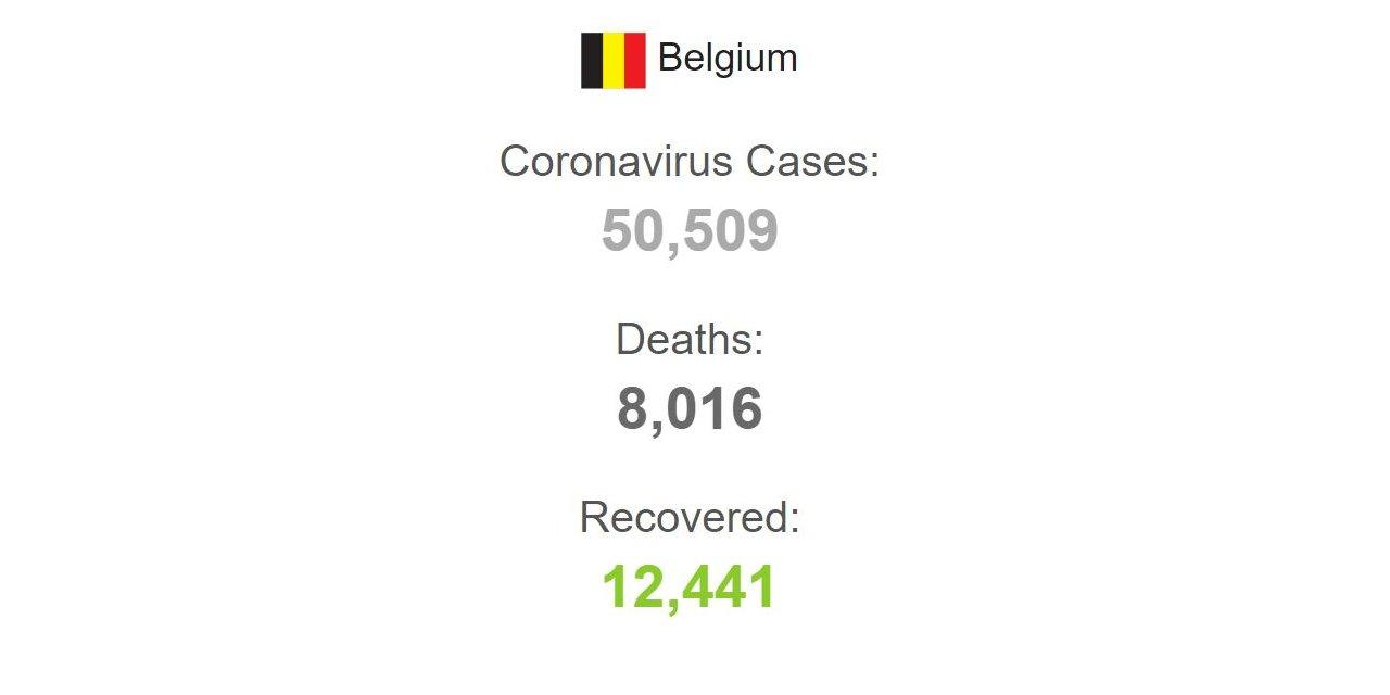 Belçika'da son 24 saatte koronavirüsten 97 ölüm