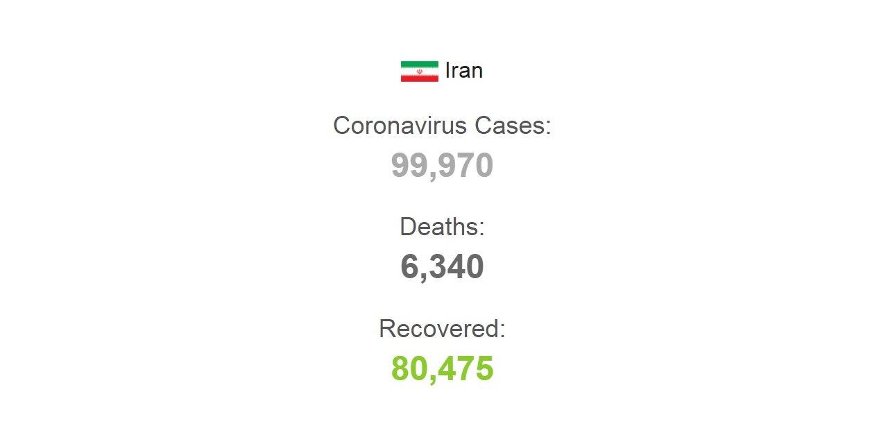 İran'da koronavirüsten ölenlerin sayısı 6 bin 340'a yükseldi