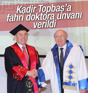 İ.B.B Başkanı Topbaş'a fahri doktora unvanı