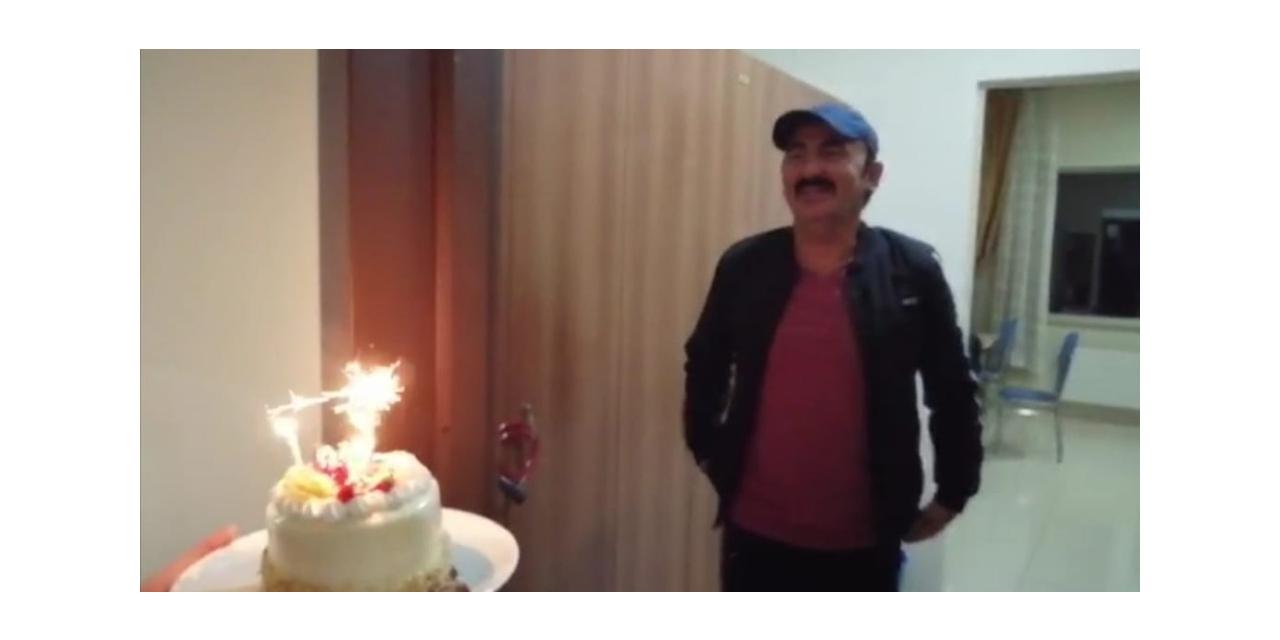 Karantinadaki vatandaşa 'Doğum günü' sürprizi