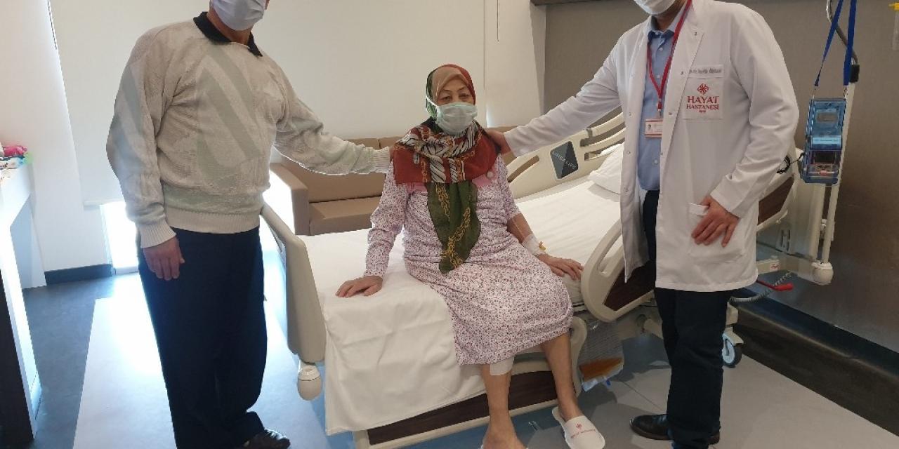 91 yaşındaki hasta ameliyatla şifa buldu