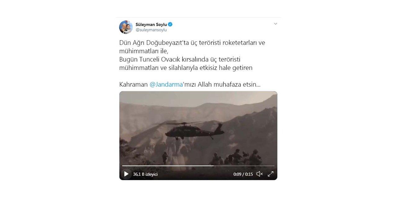 Tunceli'de, 3 PKK'lı terörist etkisiz hale getirildi (2)