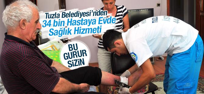 Tuzla Belediyesi'nden 34 Bin Hastaya Evde Sağlık Hizmeti