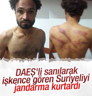 DAEŞ'li diye kaçırılan Suriyeliyi jandarma kurtardı