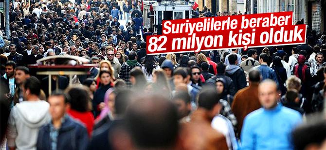 Türkiye Nüfusu 82 Milyonu Buldu