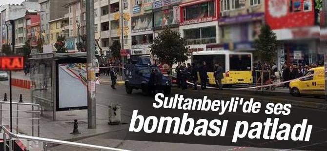 Sultanbeyli'de ses bombası patladı