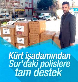 Kürt işadamı Sur'daki polislere yardım malzemesi gönderdi