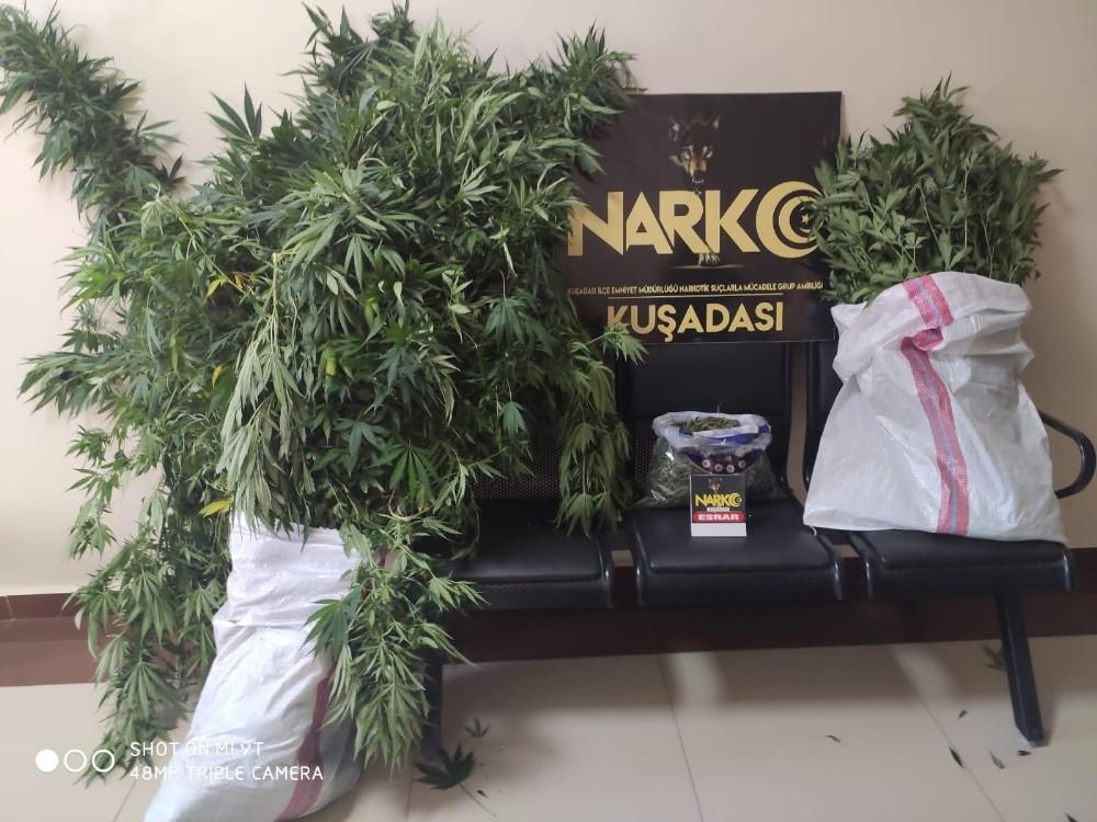 Kuşadası'nda lüks villadaki uyuşturucu imalathanesine baskın