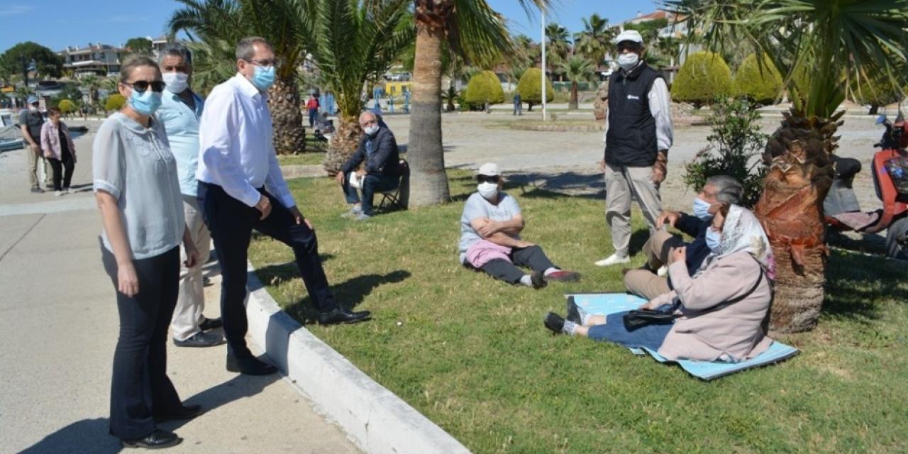 65 yaş üzeri vatandaşlardan Başkan Ergin'e sevgi seli