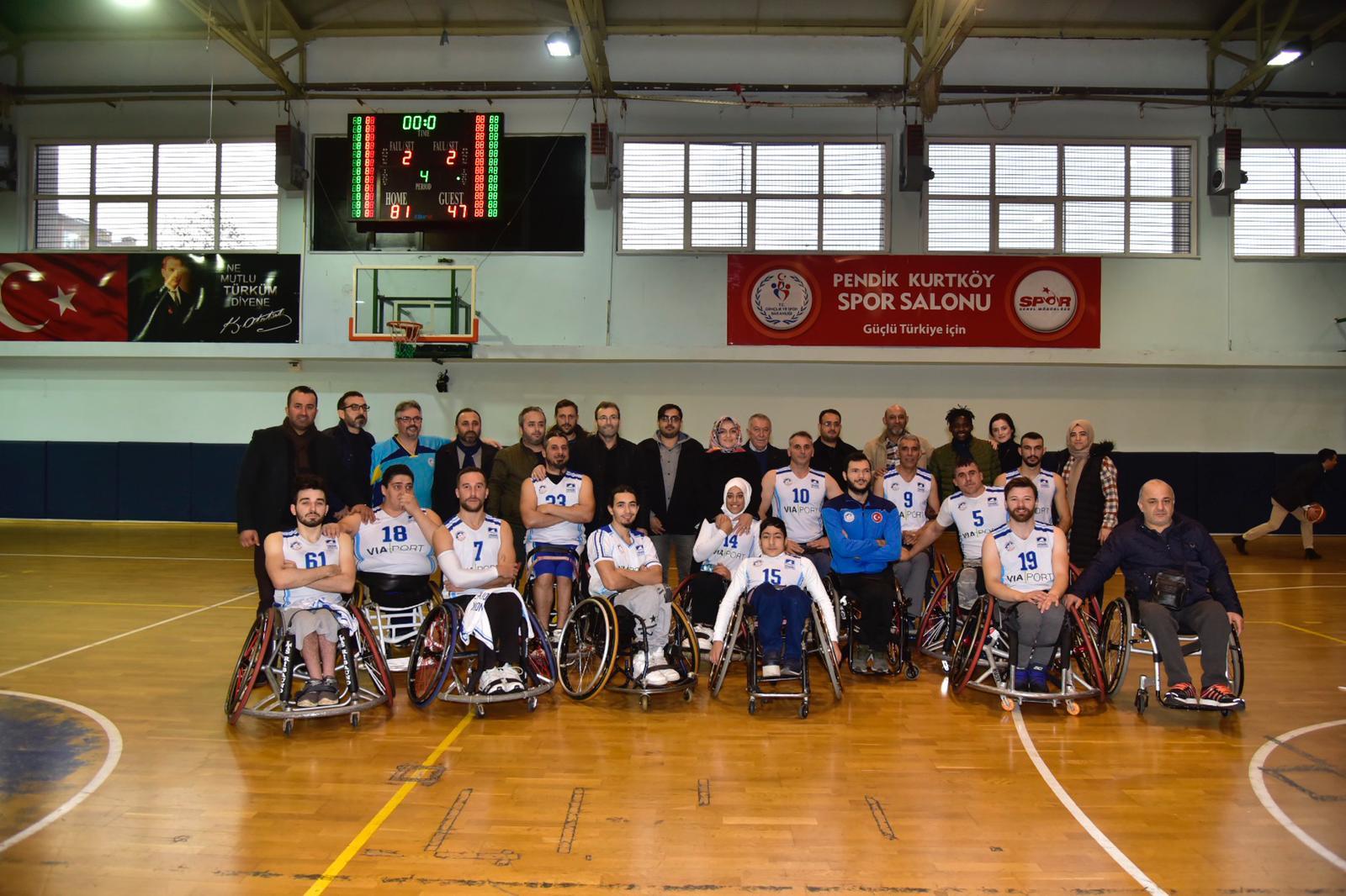 Pendik Belediyesi Tekerlekli Sandalye Basketbol Takımı Süper Lig'de!