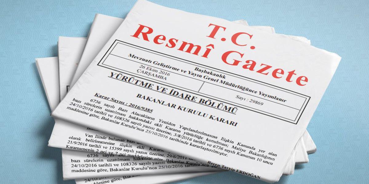 1 Haziran 2020 Resmi Gazete Kararları! Bugün Resmi Gazete'de neler var?