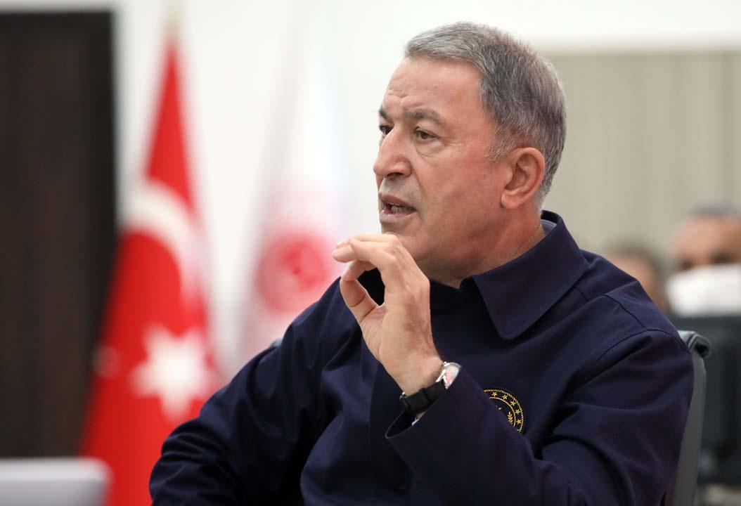 Bakan Akar'dan Ege ve Doğu Akdeniz açıklaması: Menfaatleri korumakta kararlıyız