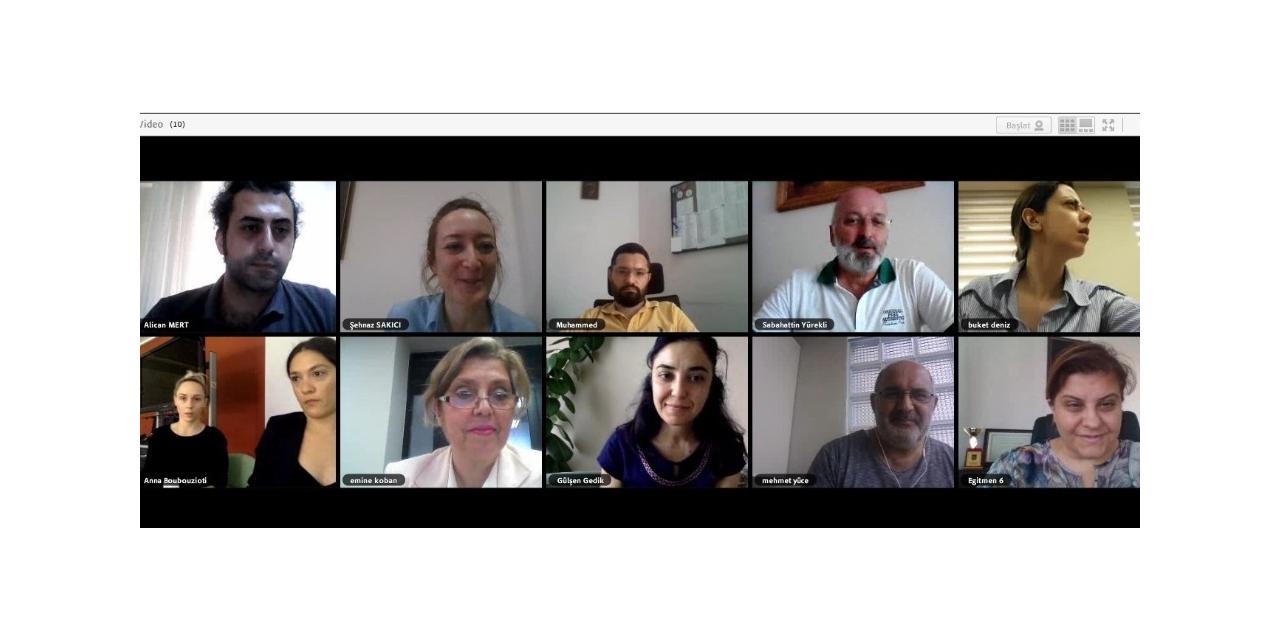 GAÜN engellileri engelsiz farketme projesi ortakları çevrimiçi ortamda bir araya geldi