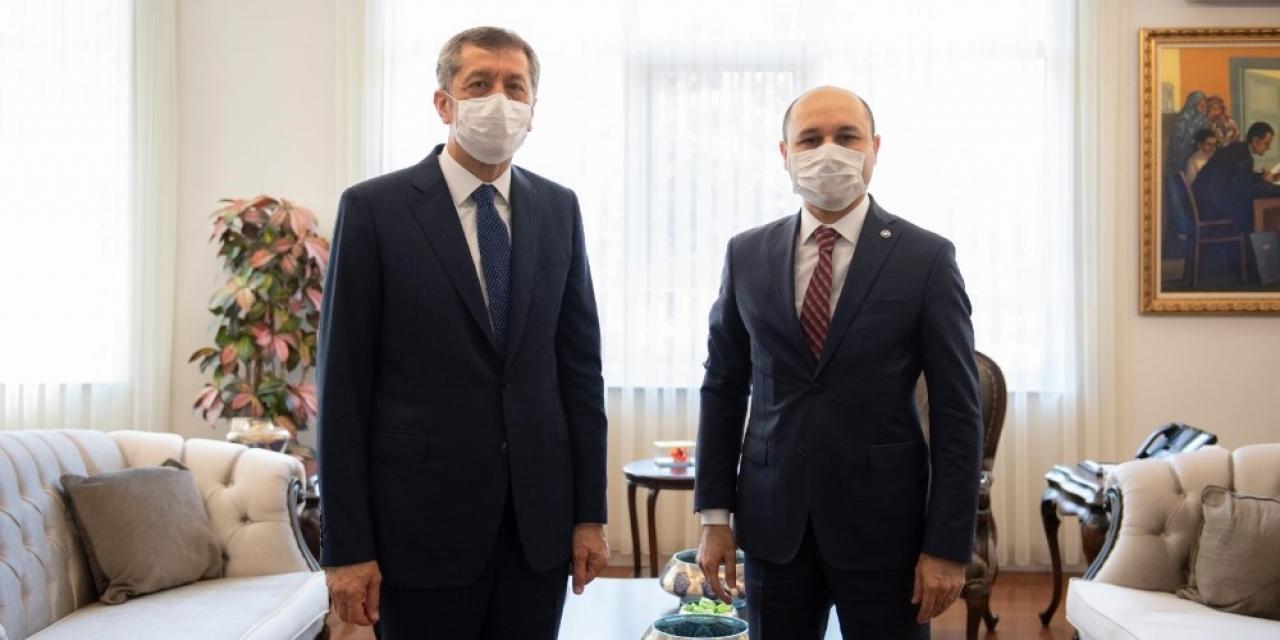Türk Eğitim-Sen Genel Başkanı Geylan'dan, Milli Eğitim Bakanı Selçuk'a ziyaret