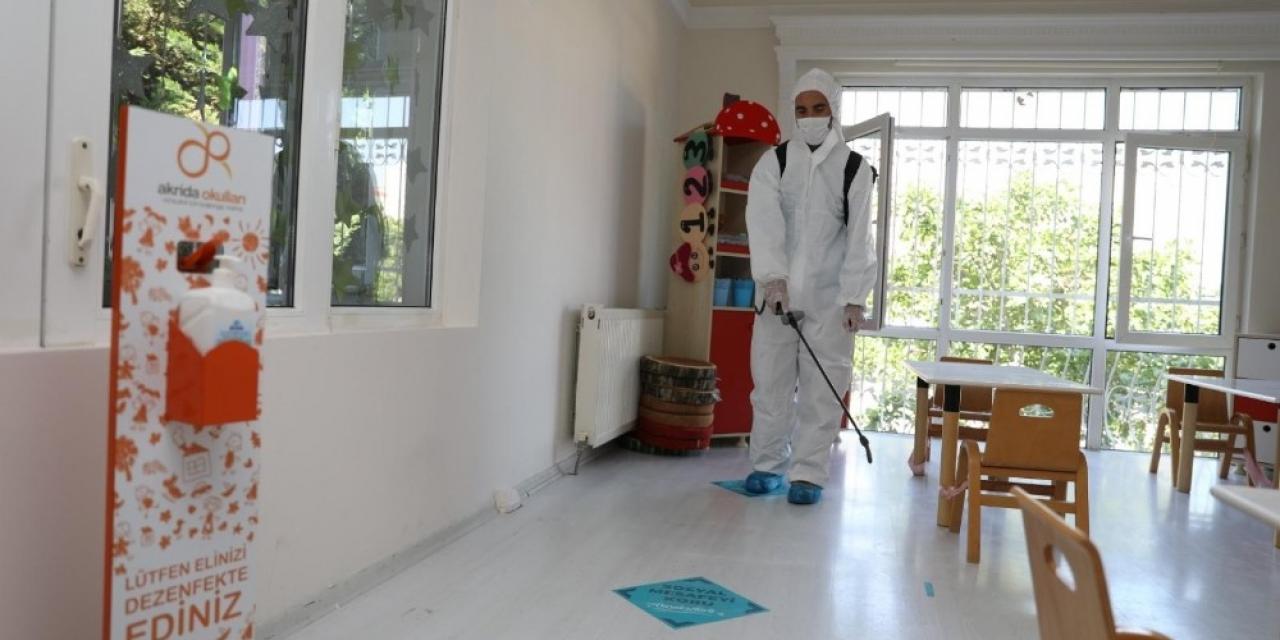 Başakşehir'in anaokulları korona virüse karşı güvende
