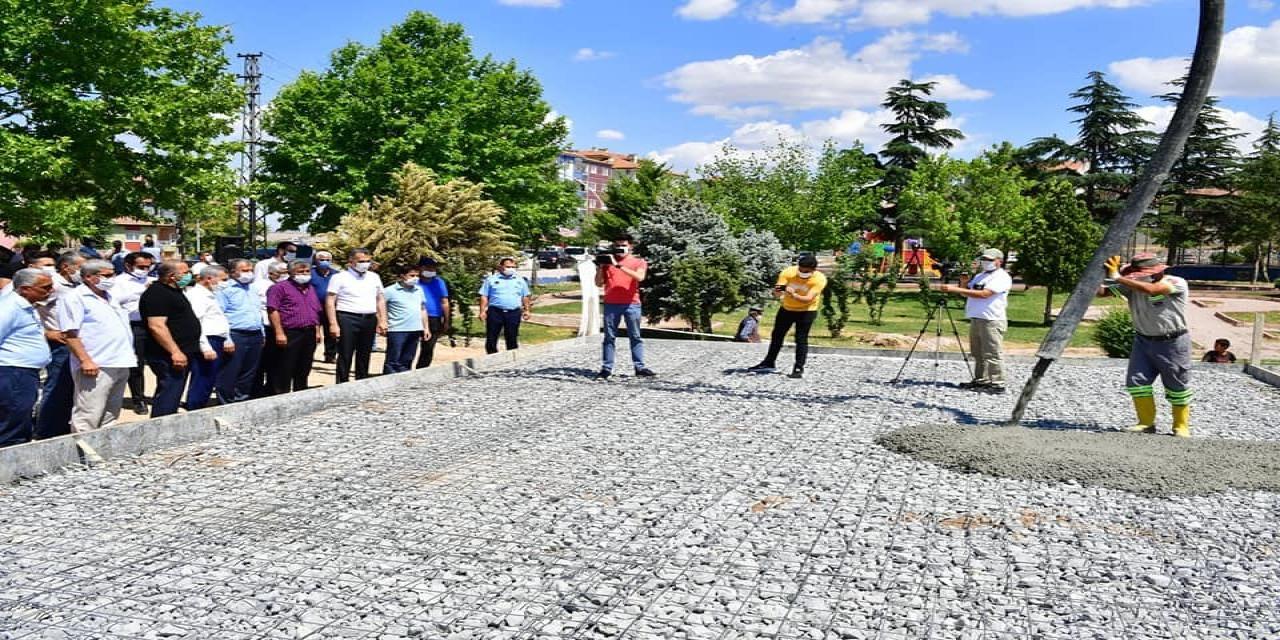 Yeşiltepe sosyal tesisleri ve halı saha projesinde temel atıldı