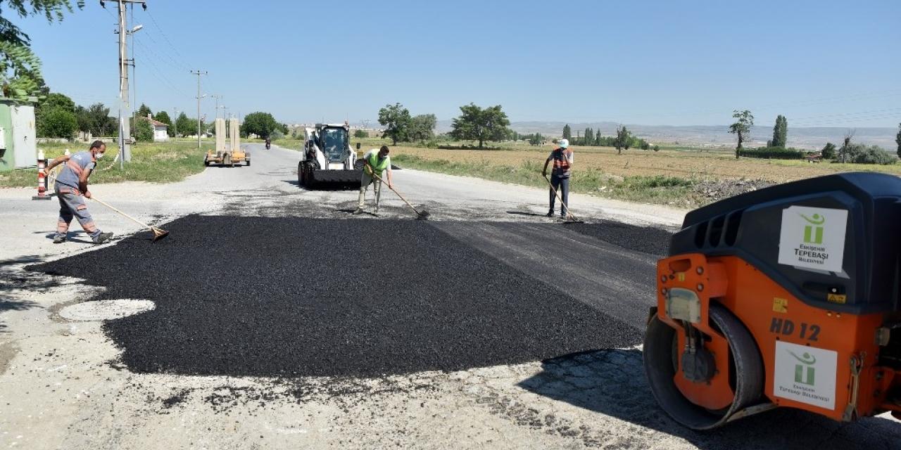 Tepebaşı Belediyesi üstyapı çalışmalarını hız kesmeden sürdürüyor