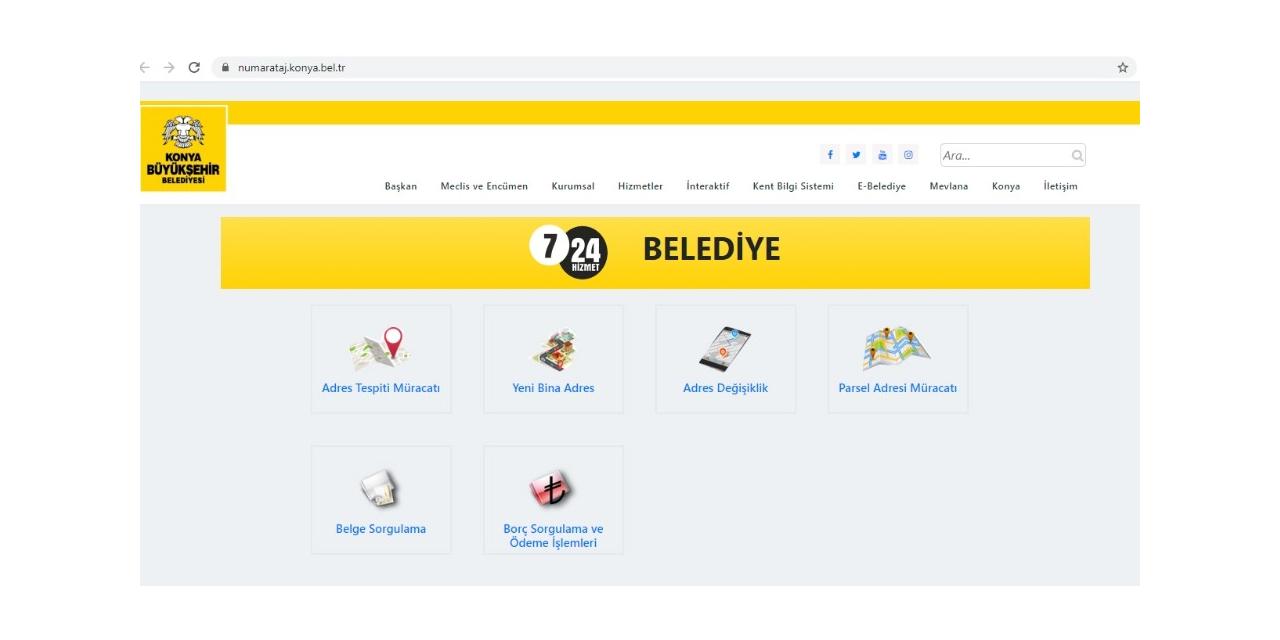 Konya'da adres işlemleri artık internetten yapılacak
