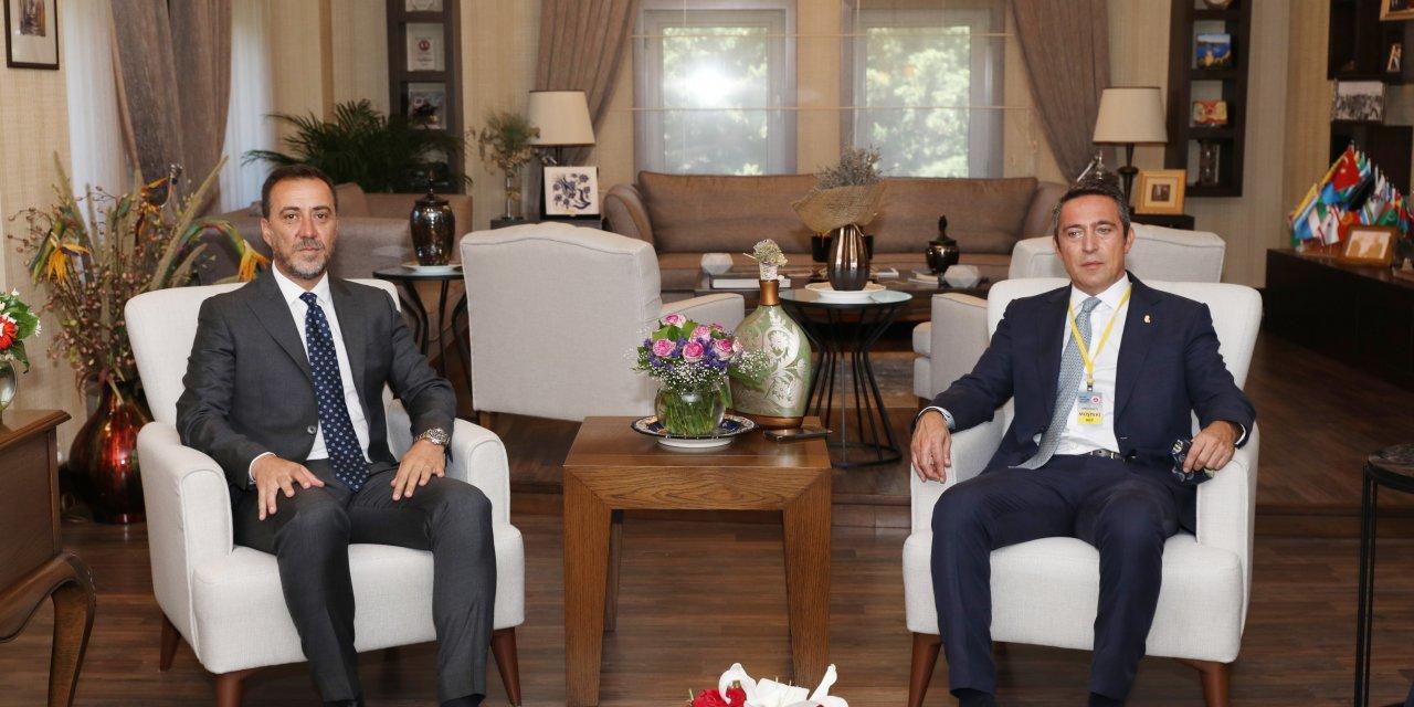 Ali Koç'tan Silivri Belediye Başkanı Yılmaz'a hayırlı olsun ziyareti