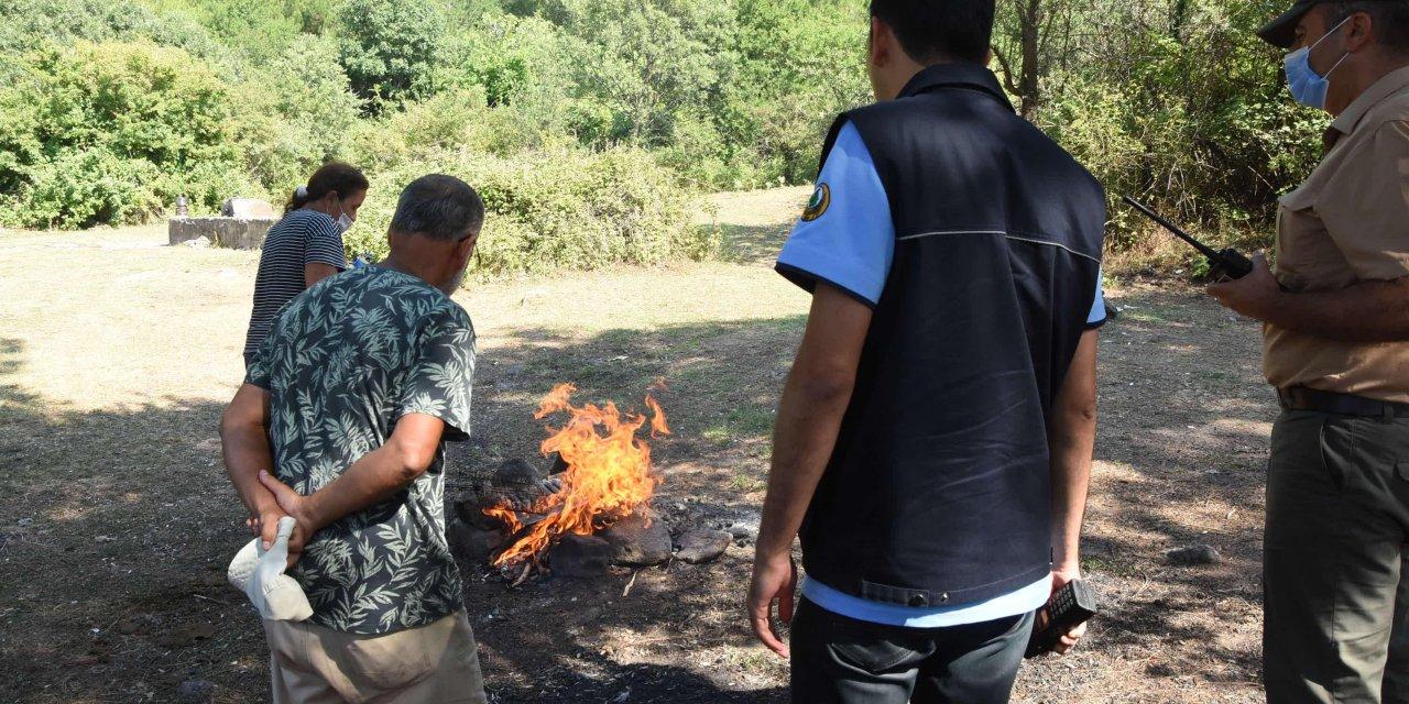 İzmir'de, orman yangınlarının ardından 'mangal' denetimi