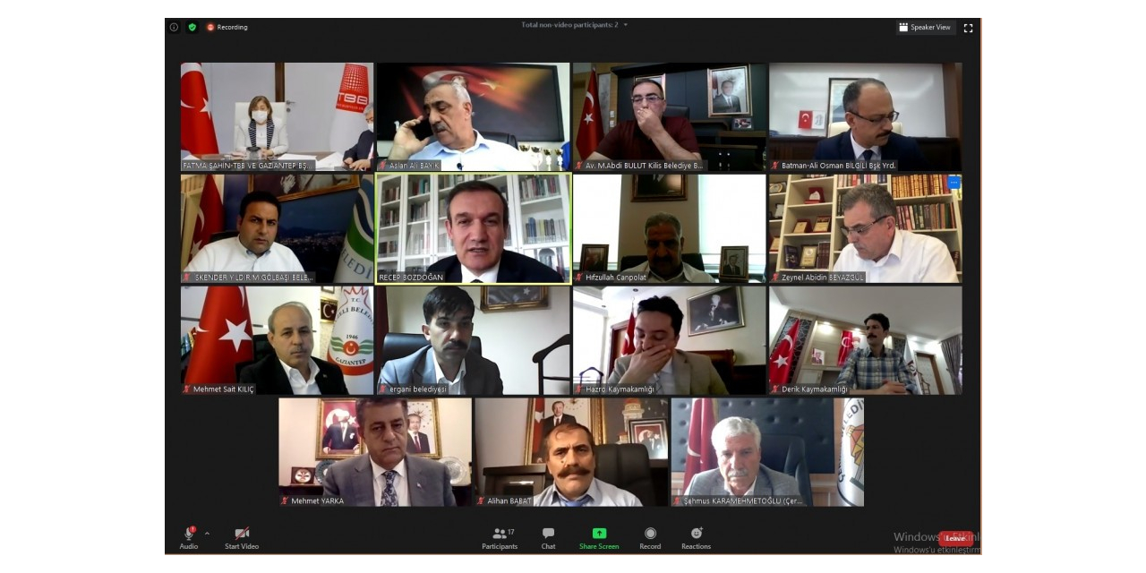 Türkiye Belediyeler Birliği online olarak toplandı