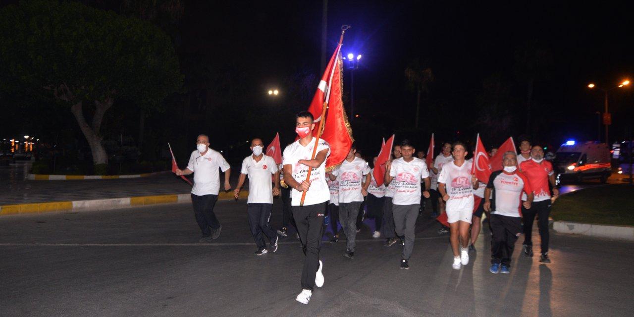 Milli sporcular '15 Temmuz' şehitleri için koştu