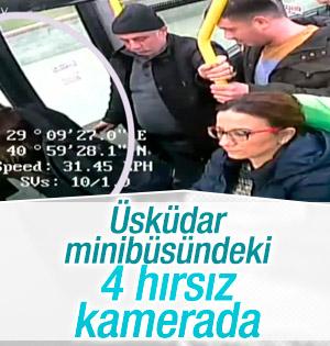 Üsküdar Minibüsündeki hırsızlık anı kamerada