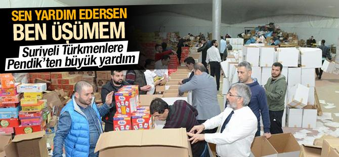 Suriyeli Türkmenlere Pendik'ten Büyük Yardım